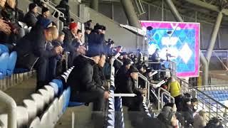 Матч Казахстан - Латвия. Трибуны ревут