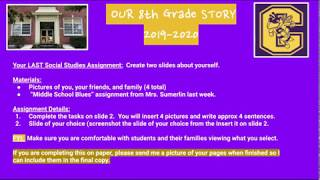 Online Yearbook pages