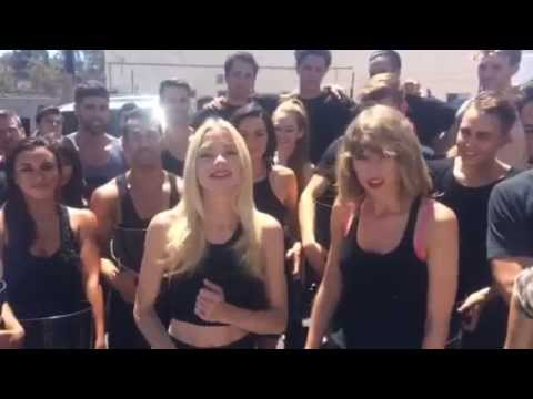 Taylor Swift Ice Bucket Challenge with Jamie King