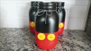 DIY MICKEY MOUSE MASON JAR