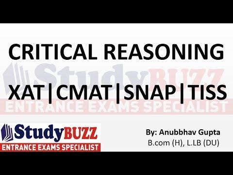Critical Reasoning for XAT | SNAP | TISS | CMAT | NMAT