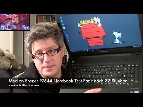 Medion Erazer P7644 Notebook Test Fazit nach 72 Stunden