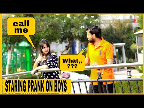 Staring Prank On Boys || AKY FILMS ||
