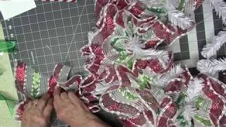 How To Make A Ruffle Christmas Wreath Part 1