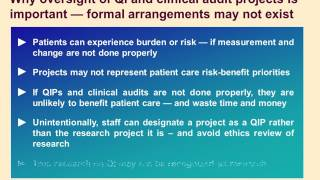 Handling Ethics Issues in the Quality Improvement Process