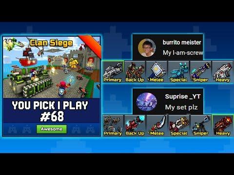 You Pick,I Play! #68 - Clan Siege Battle - Pixel Gun 3D