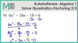 Solving Quadratic Equations By Factoring Kuta Software 免费在线