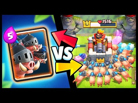 New Card Royal Hogs Vs All Cards In Clash Royale Youtube