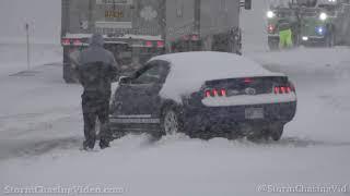 Record breaking snowfall in Wichita, KS to start the new year - 1/1/2021