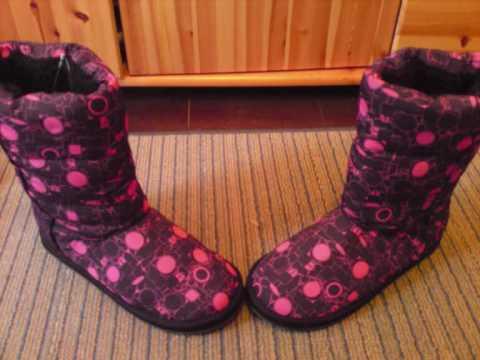 Meine pink schwarzen Winterstiefel, die ich ja sooo liebe! OMG!