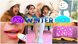 """Excessive cold Winters makes us all lazy & we all want to remain packed inside a blanket. isn't it? So make you survive with ease & comfort here we're today gonna share with you awesome Lazy Winter Life Hacks that will help you a lot.  You'll also have fun watching this video. Do hit LIKE and SHARE this video as much as you can.  CREDITS :- Creative Head: Shruti Anand Written By: Vishal Vaish & Pallavi Arya  Director, DOP & Editor: Vishal Vaish Models : Anishka Khantwaal, Bharti Singh, JeetuShree,  Supporting Members: Pankaj Topwal, Shubham Raj Verma  ~ Love ♥ Anaysa ♥   NEW UPLOADS every Monday and Friday @6:30 pm  AUDIO DISCLAIMER/CREDITS – """"Music from Epidemic Sound (http://www.epidemicsound.com)""""  DISCLAIMER: The information provided on this channel and its videos is for general purposes only and should NOT be considered as professional advice."""