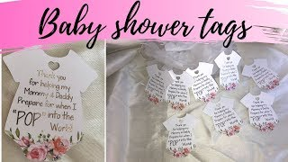 HOW TO MAKE BABY SHOWER FAVOR TAGS on silhouette studio