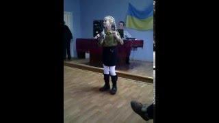 """Пісня """"Я бажаю вам добра"""" співає Лілія Коломоєць-9 років"""
