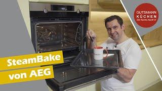 Der SteamBake Backofen von AEG vorgestellt - Backen mit Dampfunterstützung! AEG BPK556220M
