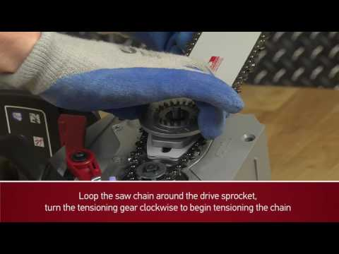 How to assemble bar and chain on CS300 Cordless Chain Saw