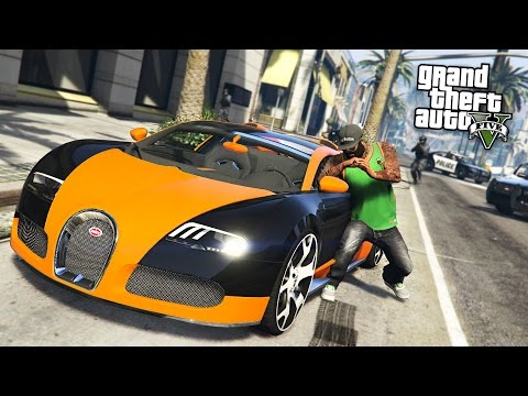GTA 5 Real Life Thug Mod #28 - STEALING RARE & EXOTIC SUPERCARS!! (GTA 5 Mods)