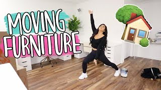 MOVING ALL MY FURNITURE!! Vlogmas Day 6