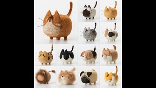A0170 No Face Cat Dog Animal Wool Needle Felt