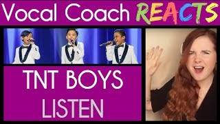 Vocal Coach Reacts to TNT Boys singing Listen