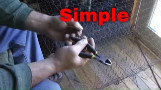 Easy Method To Cut Chicken Wire (by Hand)
