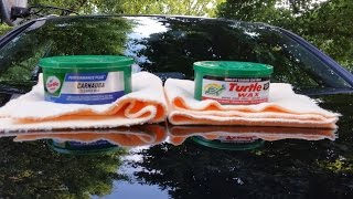 Turtle Wax Carnauba  Wax VsTurtle Wax super Hard Shell Wax(water test)