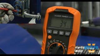 Testing an Air Switch on the Blower with a Multimeter