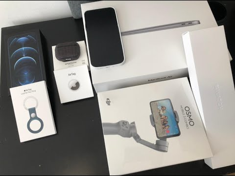 Unboxing Apple iPhone Pro Max, MacBook, Airpods, Apple Watch, Tripod Stand & Air Tag | HS Art
