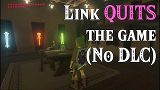 BotW Link QUITS the game! ..No DLC in Zelda Breath of the Wild (Spoilers)