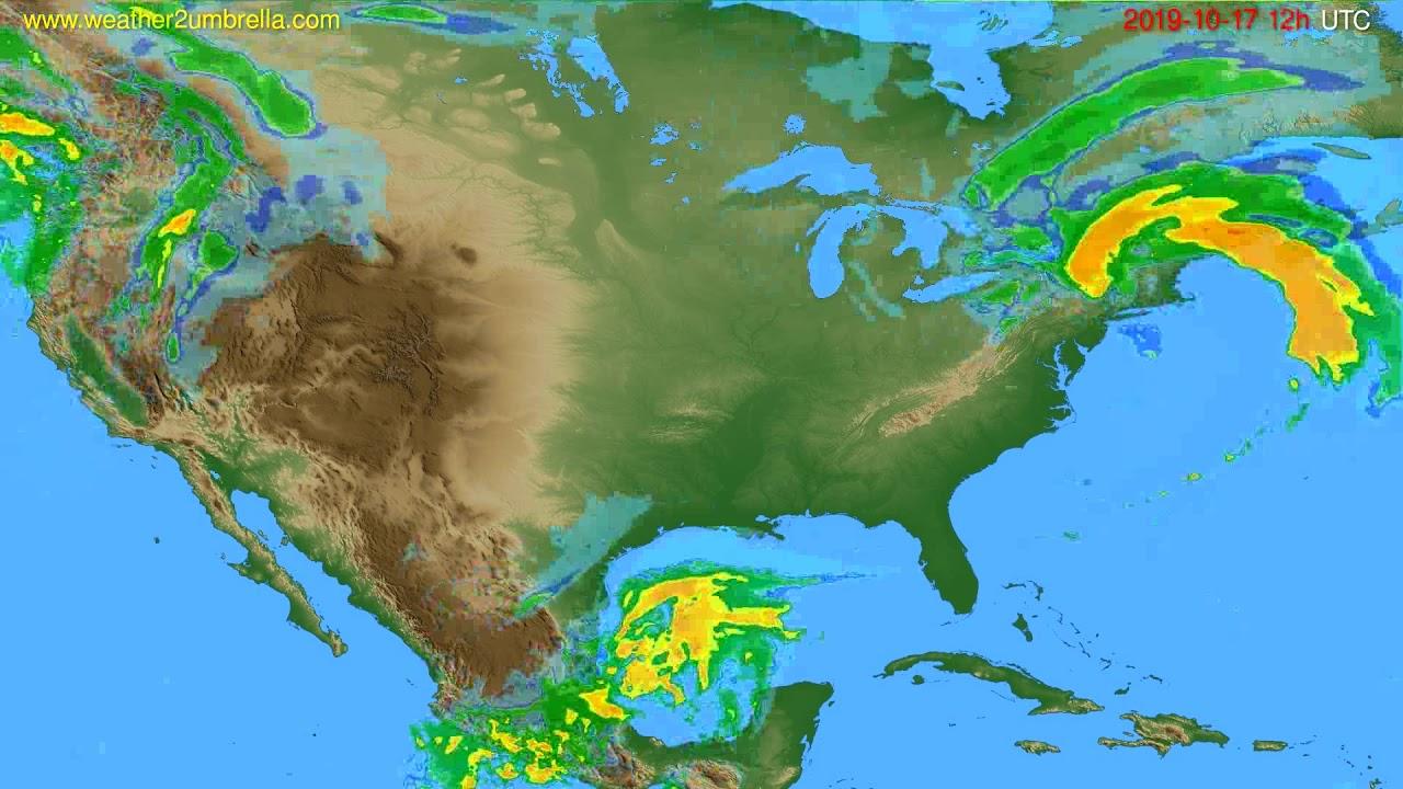 Radar forecast USA & Canada // modelrun: 00h UTC 2019-10-17