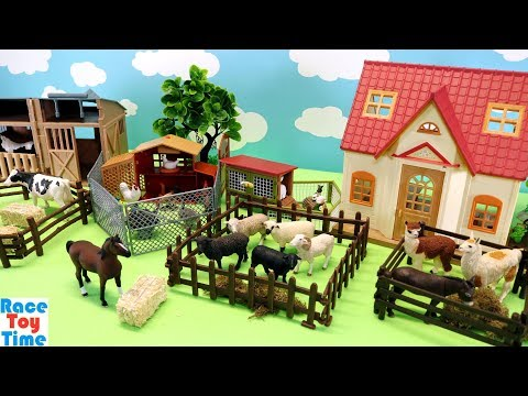 Toy Farm Animals - Learn Animal Names - RaceToyTime - Video