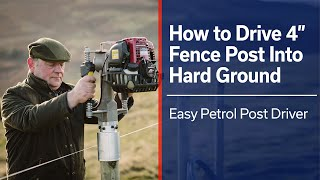 """Driving 4"""" (100mm) Fence Post into Hard Ground - Easy Petrol Post Driver"""
