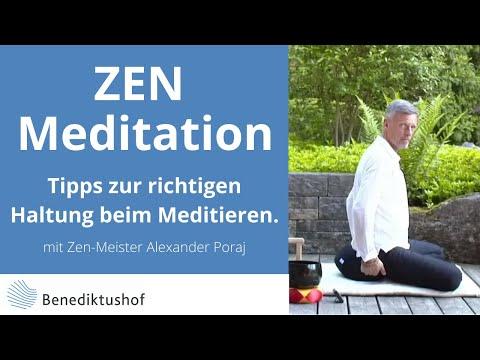 Tipps zur richtigen Haltung beim Meditieren von Zen-Meister Alexander Poraj