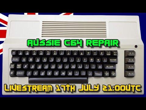 Aussie C64 repair LIVESTREAM