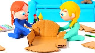 Gambar cover FROZEN ELSA & ANNA BUILD A DOLL' S HOUSE ❤ Spiderman, Hulk & Frozen Play Doh Cartoons For Kids