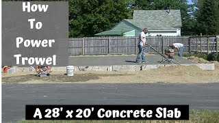 How To Finish Concrete With A Power Trowel | Everything You Need To Know