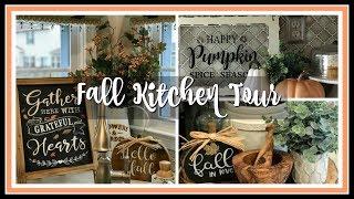 2018 Fall Farmhouse Chic Kitchen Tour   Fall Famhouse Kitchen Decor
