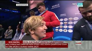 Milli Güreşçi Rıza Kayaalp 4'üncü Kez Dünya Şampiyonu Oldu