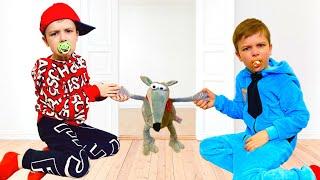 Андрей и маленький собираются показать веселые соревнования