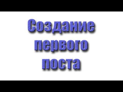 Создание первого поста на сервисе LeoPost.pro