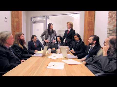 Long Haired Businessmen, une série avec des hommes ayant tous les cheveux longs