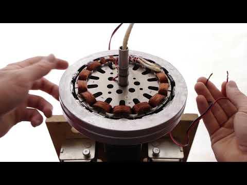 Turn a ceiling fan into a wind turbine generator?!