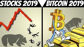 Bitcoin And Stock Market Prediction for 2019 & (2018 Recap Performance)