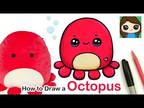 How to Draw a Cute Octopus Easy | Squishmallows