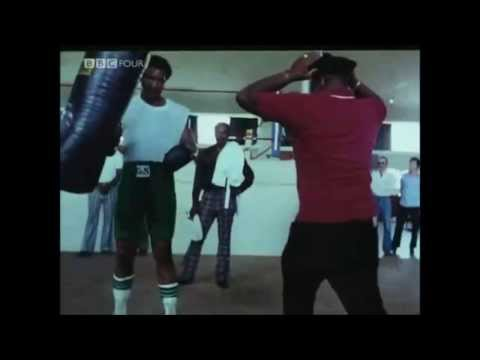 George Foreman (one of the hardest hitters in boxing) hitting the heavy bag