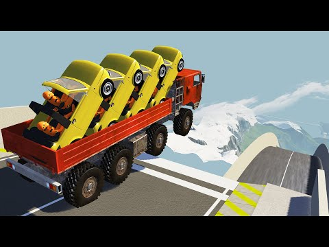 CRAZY High Speed Jumps #39 BeamNG Drive CrashTherapy