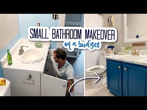 DIY Small Bathroom Makeover on a Budget 2020 | Bathroom Remodel Under $500 | Renter Friendly
