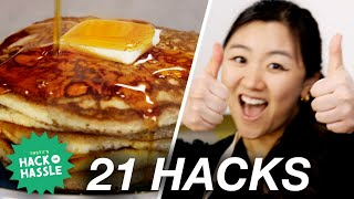 I Tested 21 Pancake Hacks In A Row • Tasty