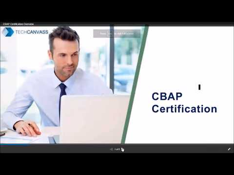 CBAP Certification Overview   Techcanvass - YouTube