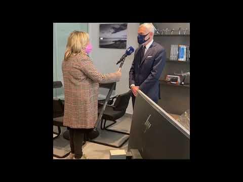 Gianni Lettieri: l'appello alla popolazione dall'Hub vaccinale Atitech di Capodichino
