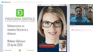 FD Fiduciaria Digitale: subscribe a trustee agreement remotely